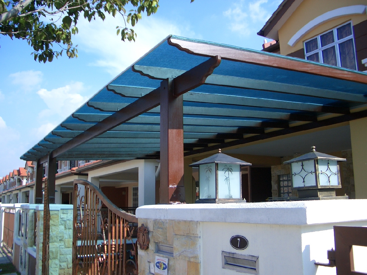 Enhance your homes beauty with awning design carehomedecor for Piani di garage free standing