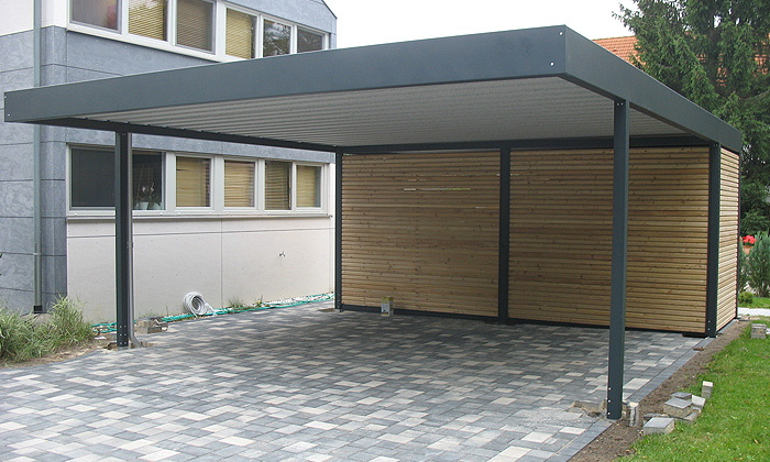 Wall Attached Carports : Limited in size but highly protective carport designs