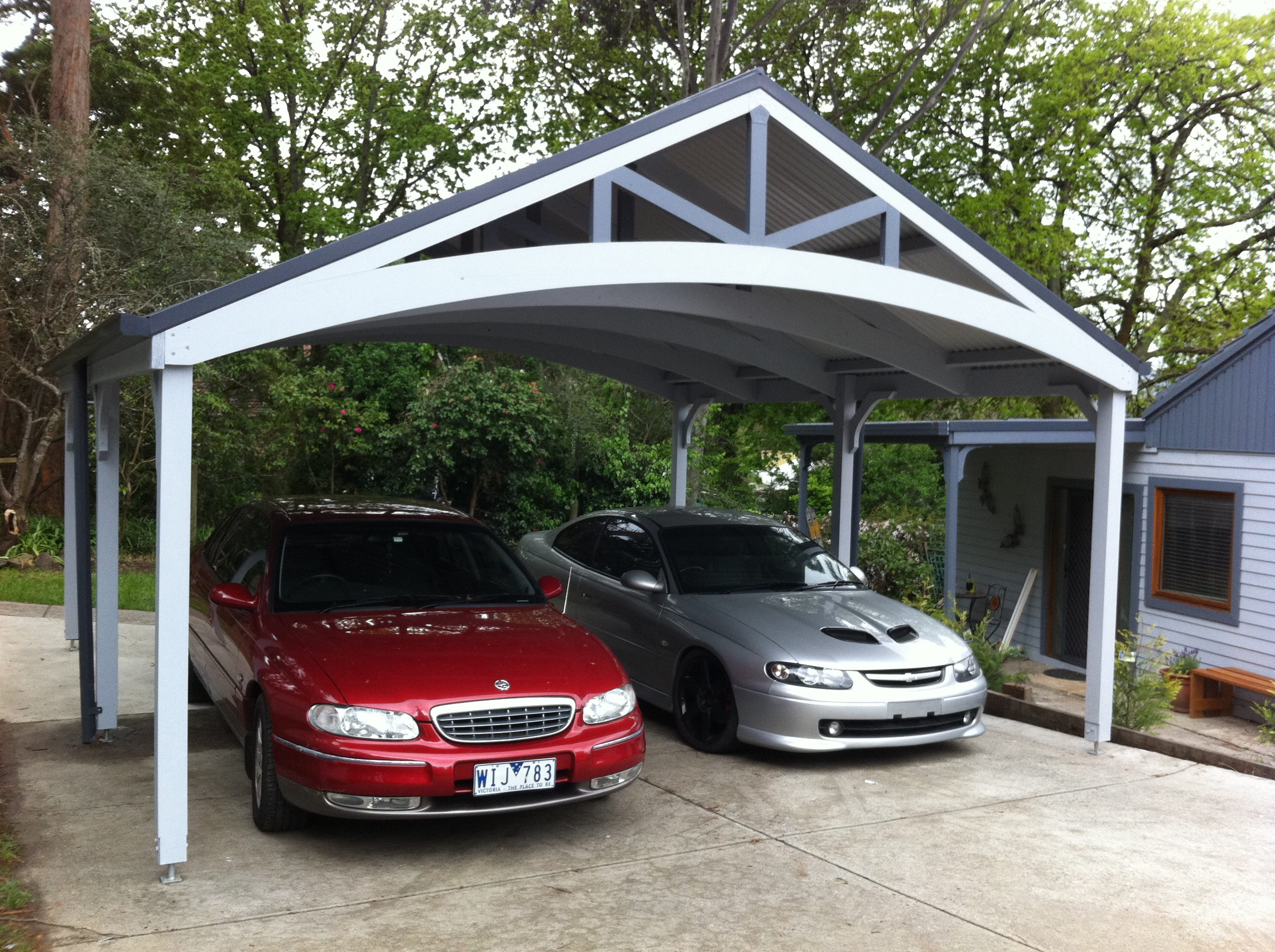 Carport kits to safely store your vehicle carehomedecor for 4 car carport plans
