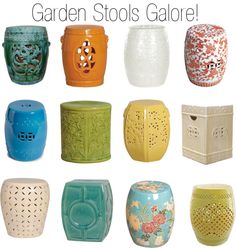 Etonnant Ceramic Garden Stool Fits Well In Limited Space Of You Garden