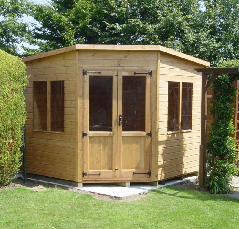 multi purpose corner sheds add value to the home