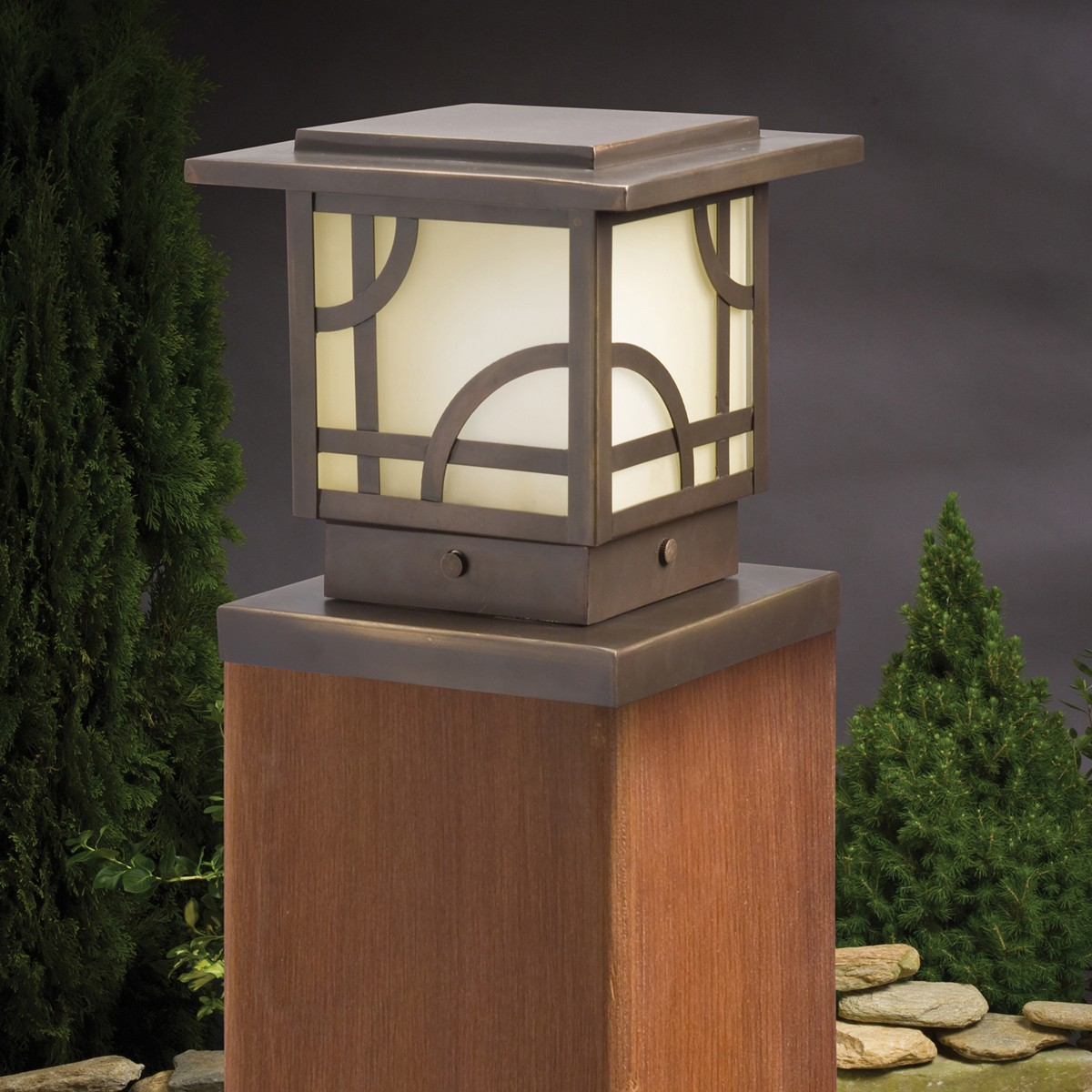 Deck post lights increase efficacy of the patio carehomedecor aloadofball Images