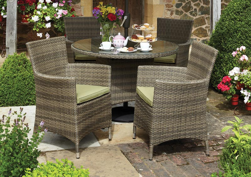 Rattan Garden Furniture 4 Seater simple garden furniture 4 seater sets round table set e and decorating