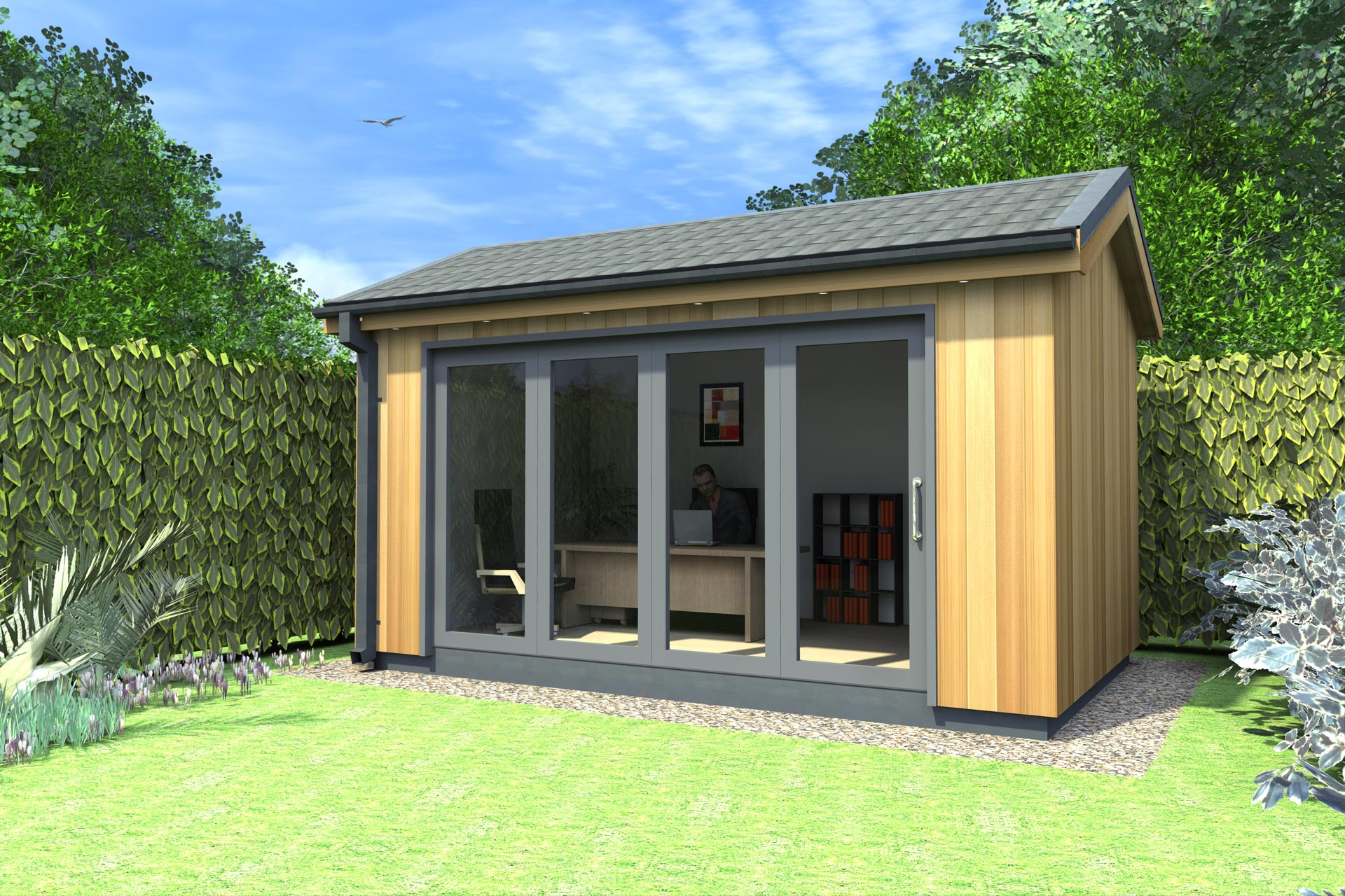Design the perfect garden offices in your garden CareHomeDecor