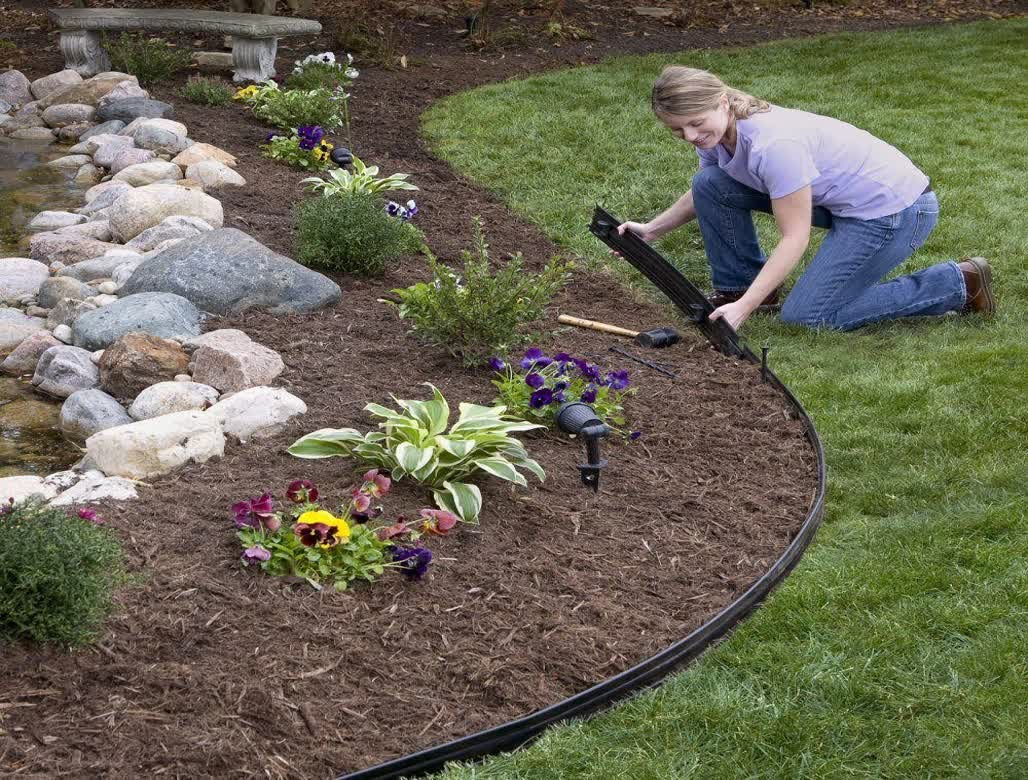 How to install metal landscape edging video beatiful for Garden edging