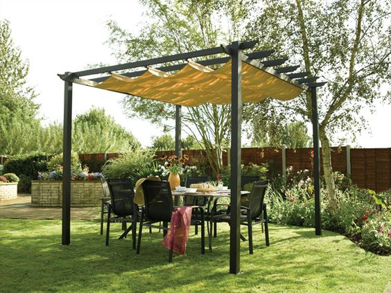 One can select these outdoor canopies or shelters with different types and  designs according to their