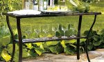 Outdoor console tables for style and storage