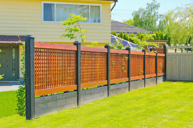 your ordinary fencing with new privacy fence designs carehomedecor