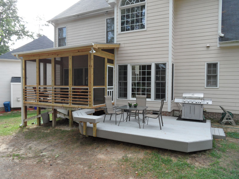 screened in deck makes house spacious safer carehomedecor