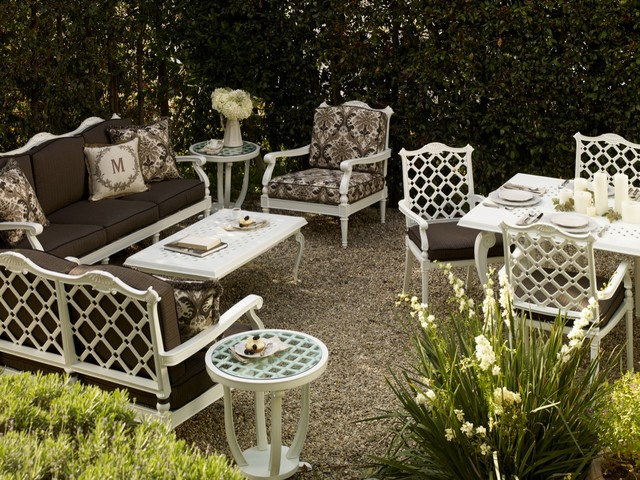 with recent amendments in technology and manufacturing techniques there are many new designs patterns available for white outdoor furniture - Garden Furniture Traditional