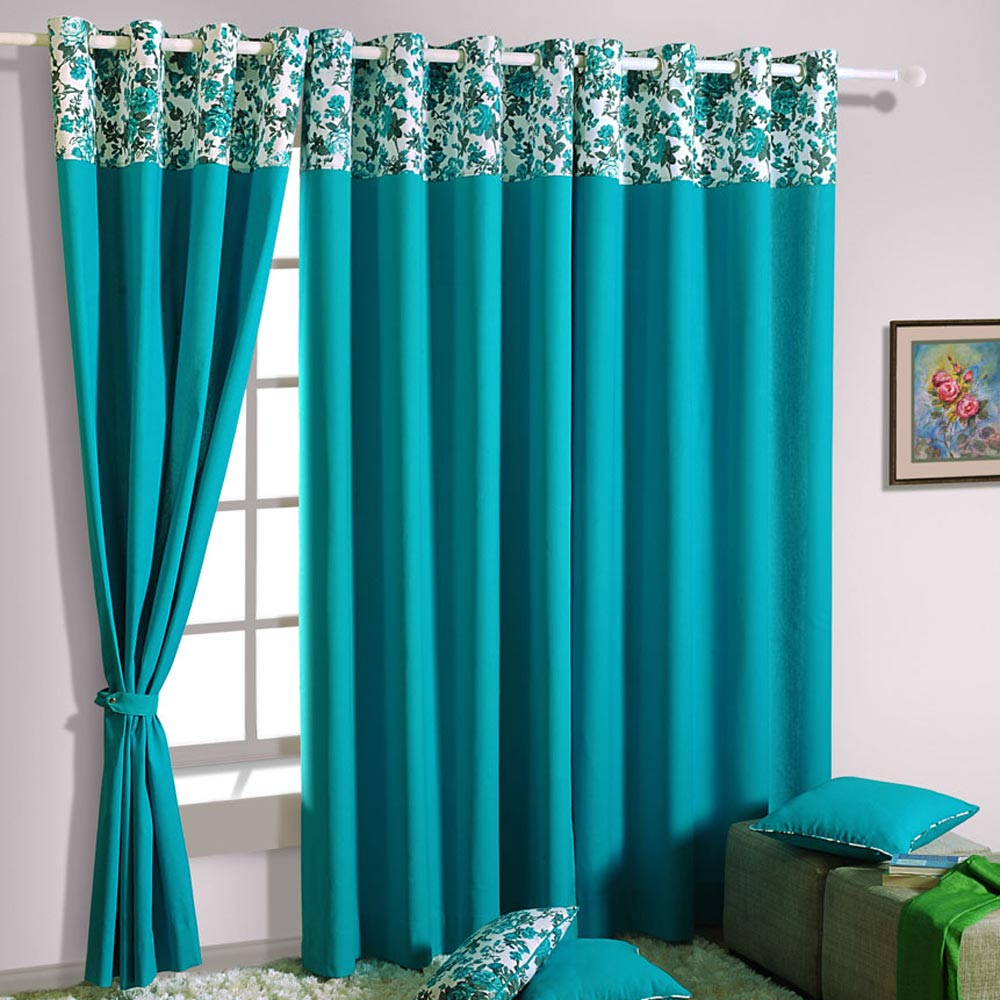 item soul home blue in sheer curtains room drapes embroidered window living light slow cortina rideaux cotton from leaves white