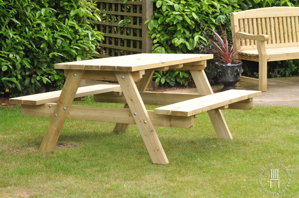 Wooden Garden Bench Chair Set Wooden Garden Furniture