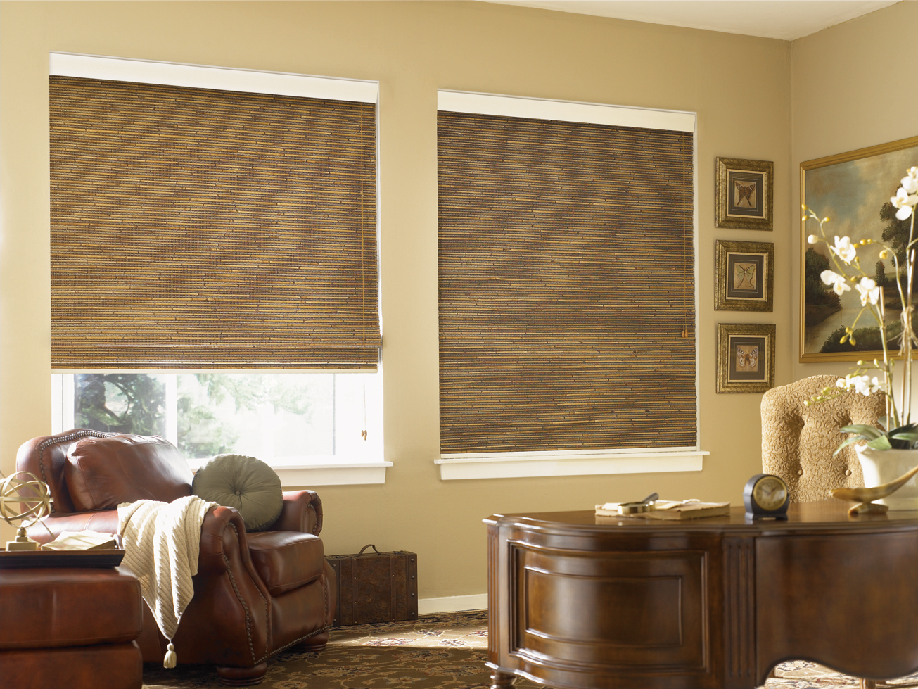 Enjoy The Elegant Woven Wood Shades Carehomedecor