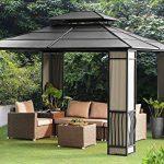 backyard gazebo sunjoy 10 x 12 heavy duty galvanized steel hardtop wyndham patio gazebo ZJTVSKV