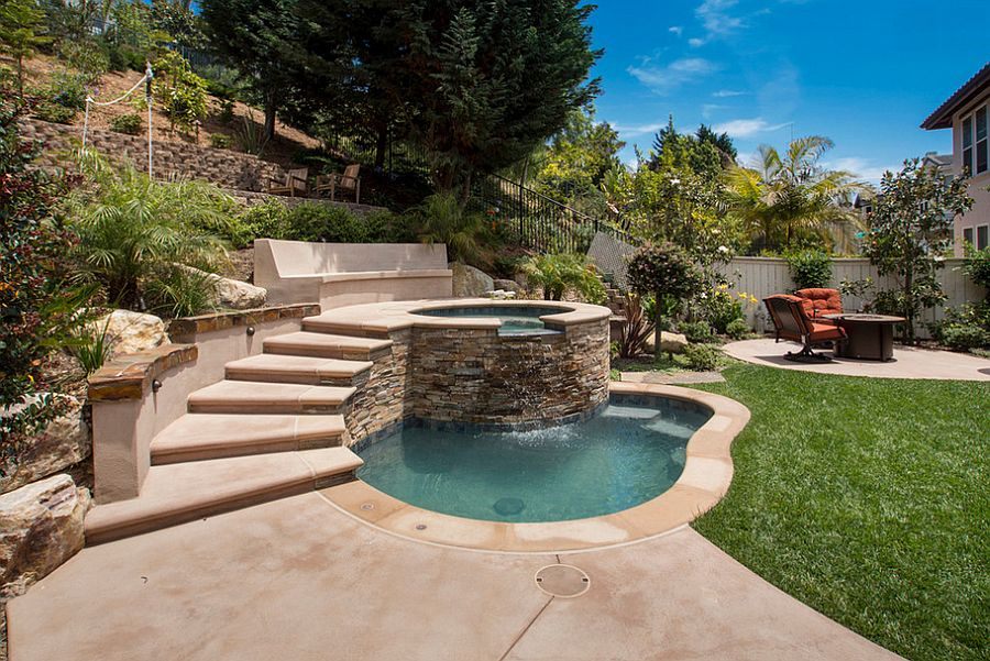 small pool designs ... small pool with jacuzzi steals the show [photography: andrea calo] YXTASIN