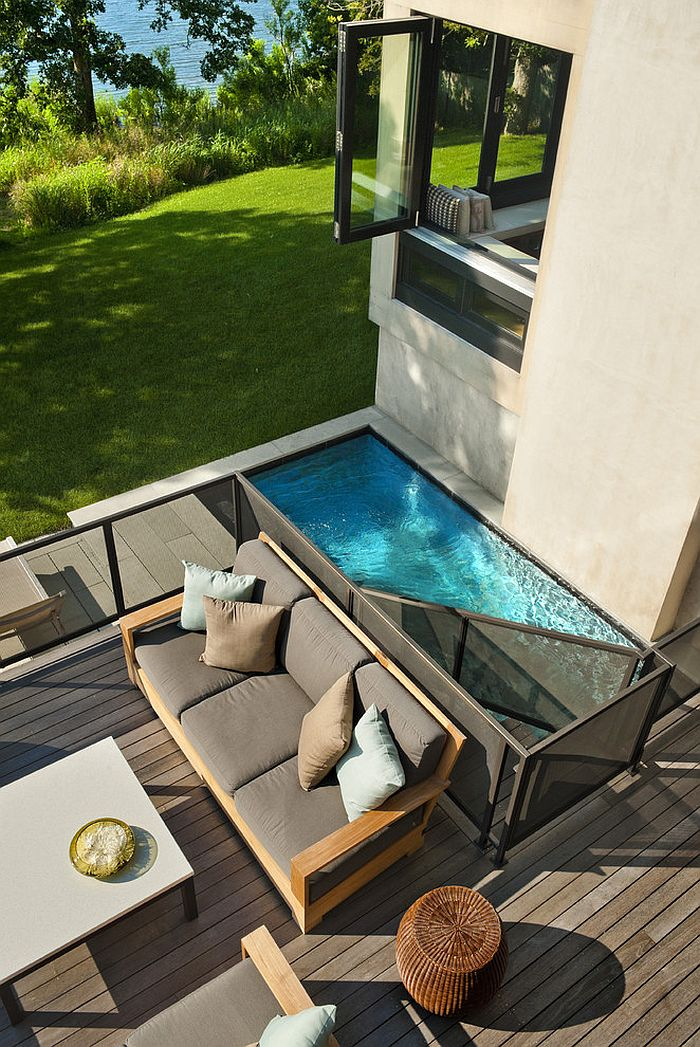 small pool designs ... smart pool and deck design makes use of available space [design: XKIBIRP
