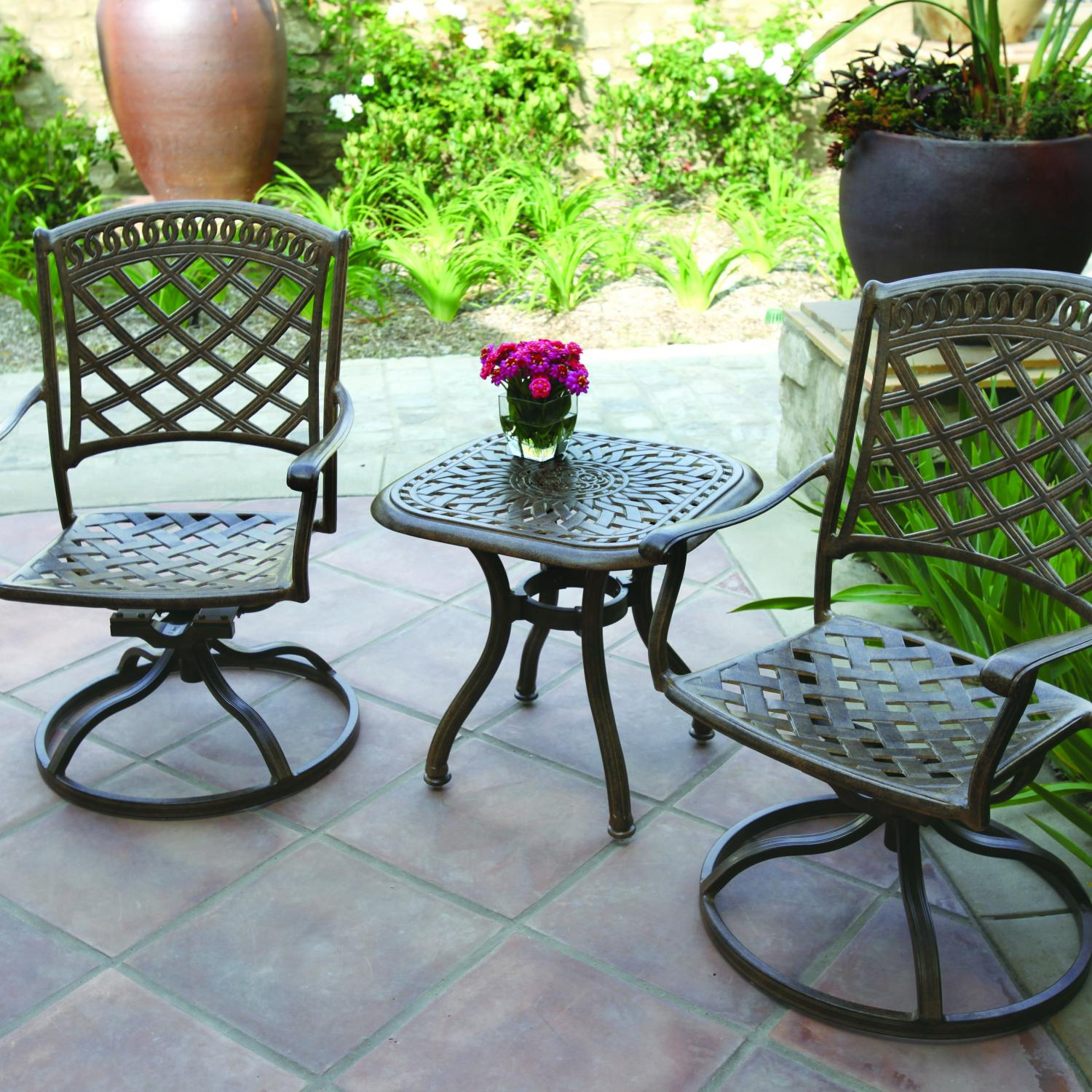 Improve your patio ambiance by patio bistro set