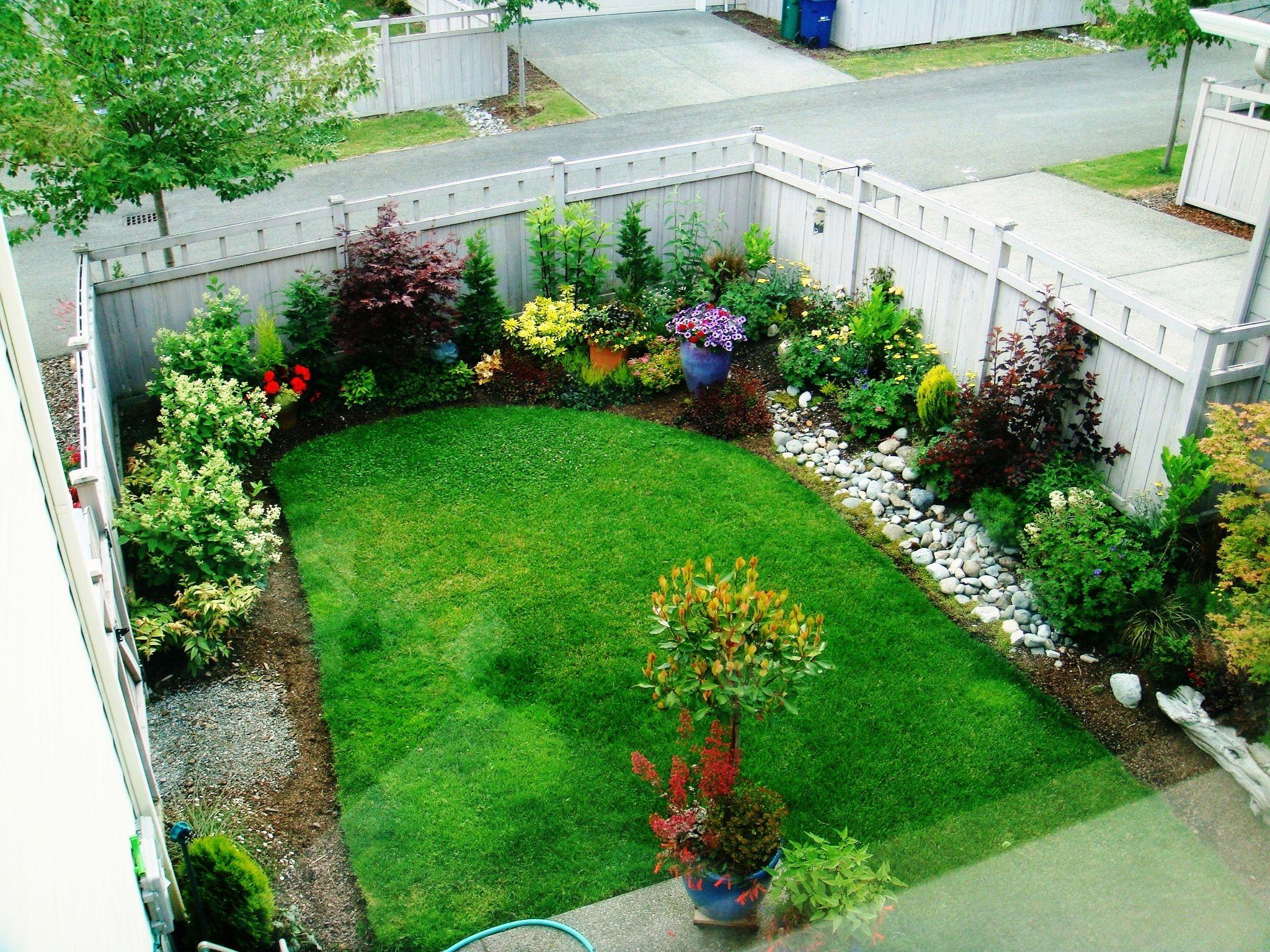 A Beautiful Backyard Garden Provides Happiness