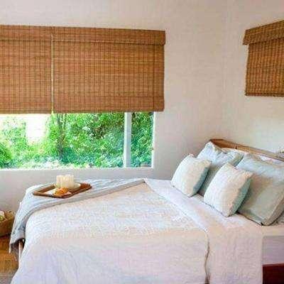 Bamboo Window Shades for an elegant window