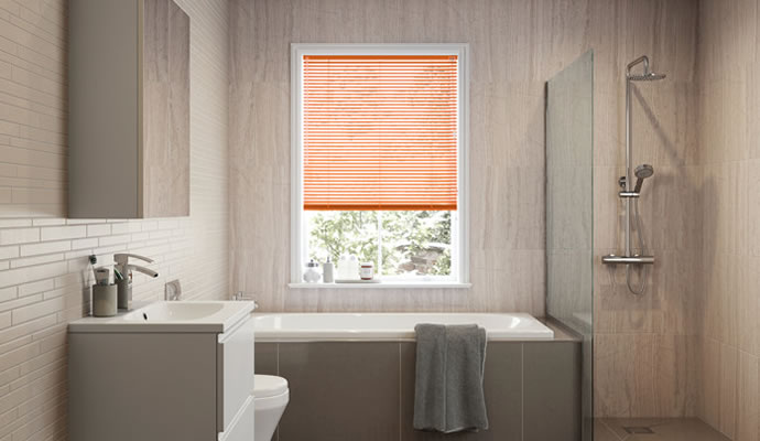 Bathroom blind is water proof with complete privacy