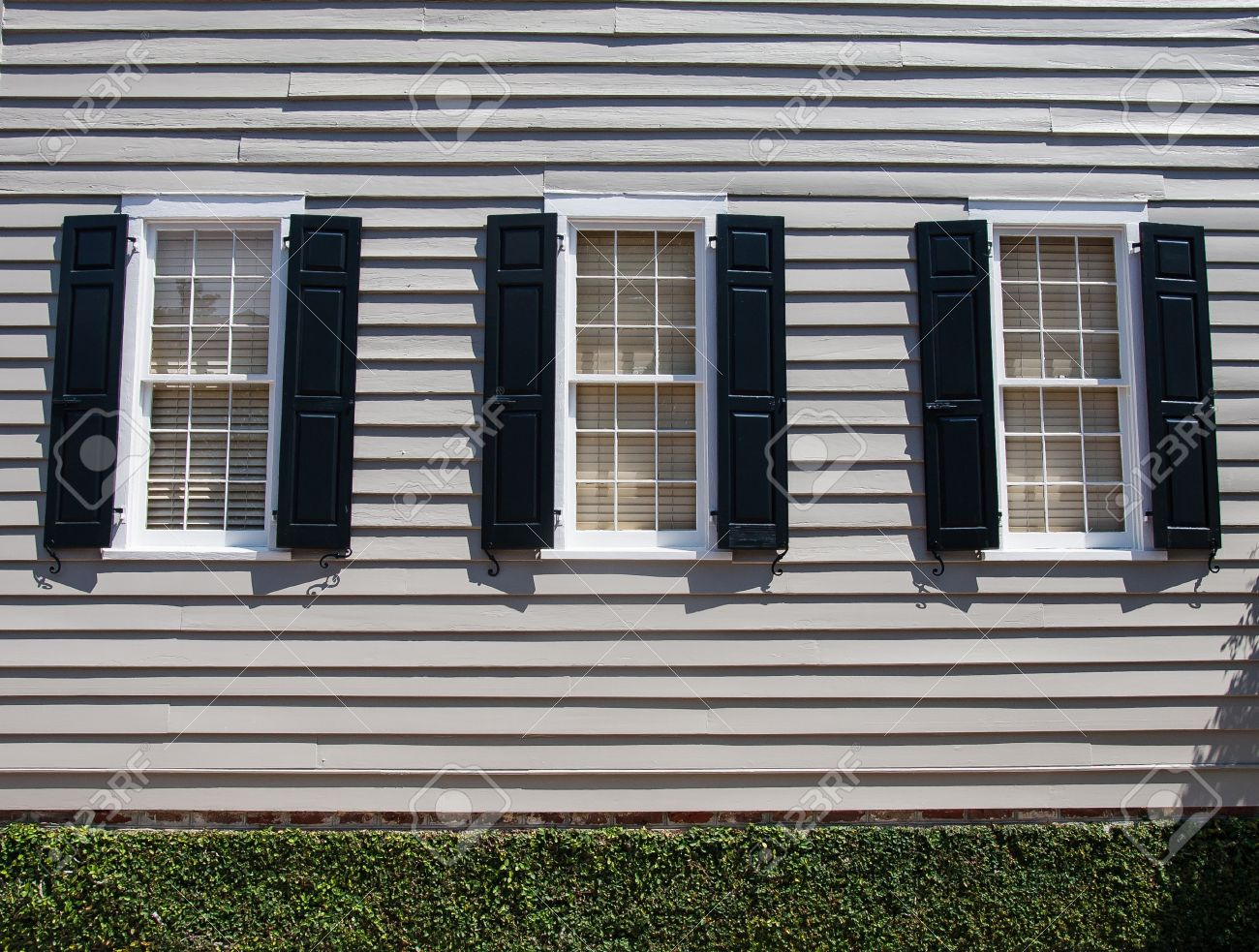 Black shutters for sophistication