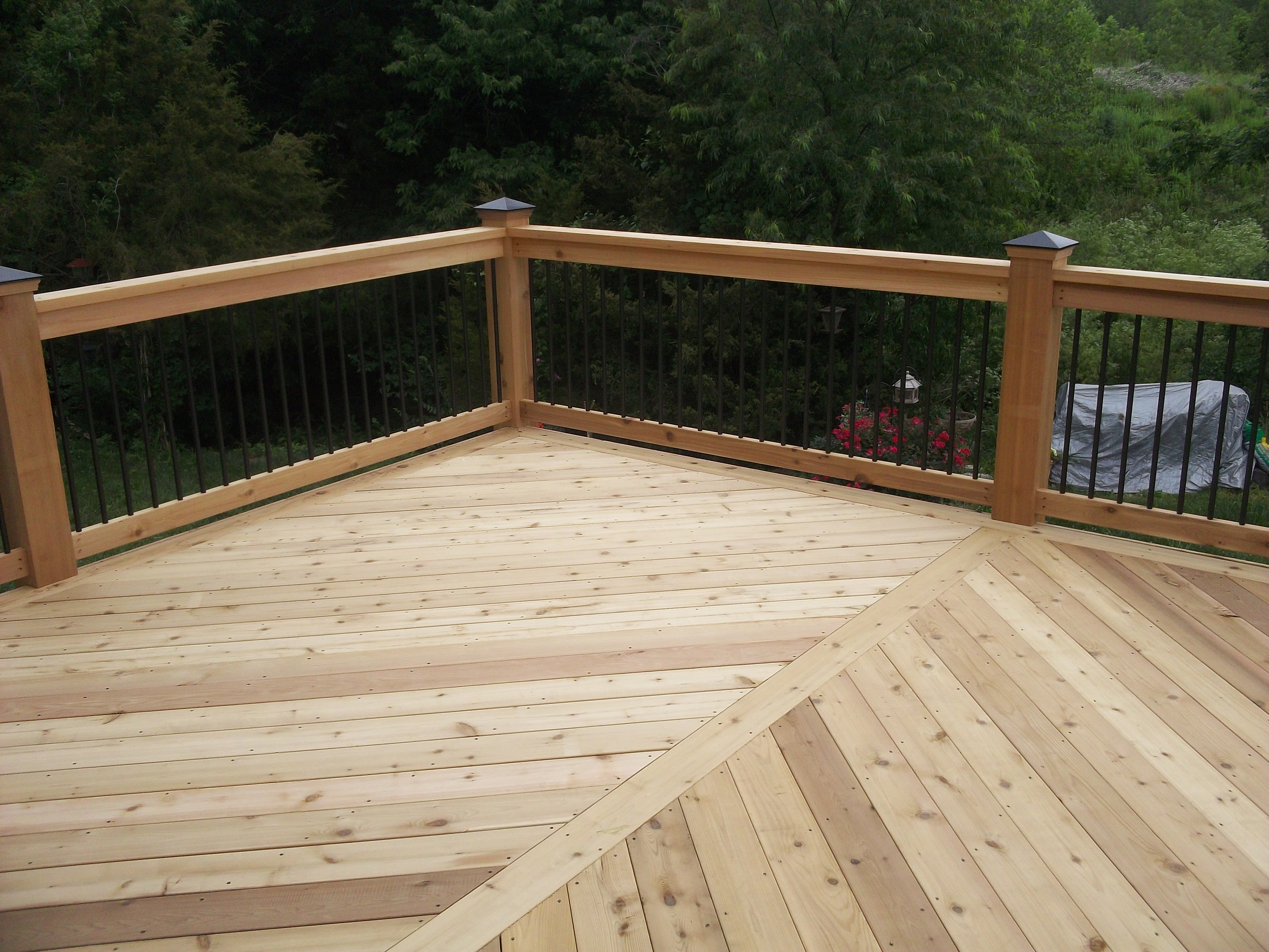 Cedar decking  12