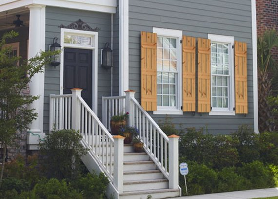Do you have cedar shutters in a house