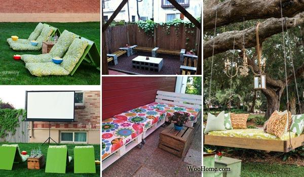 Ideas to make the comfortable garden seats