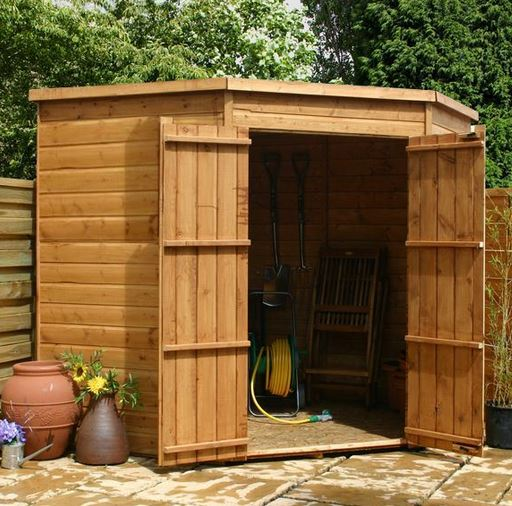 Multi-purpose Corner Sheds Add Value to the Home