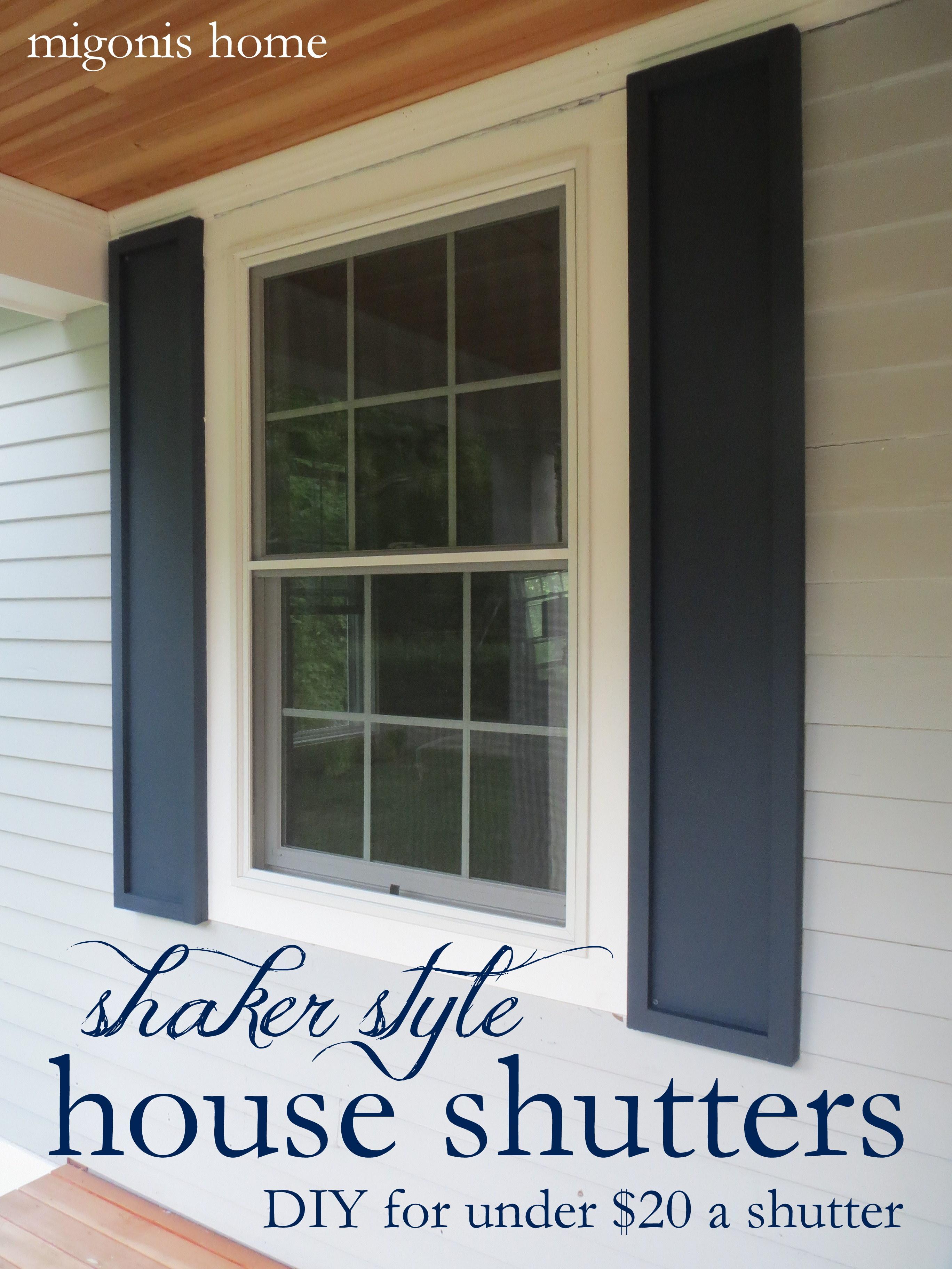 diy shutters  72