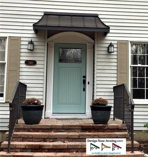 Add new look to your exterior by using door awnings