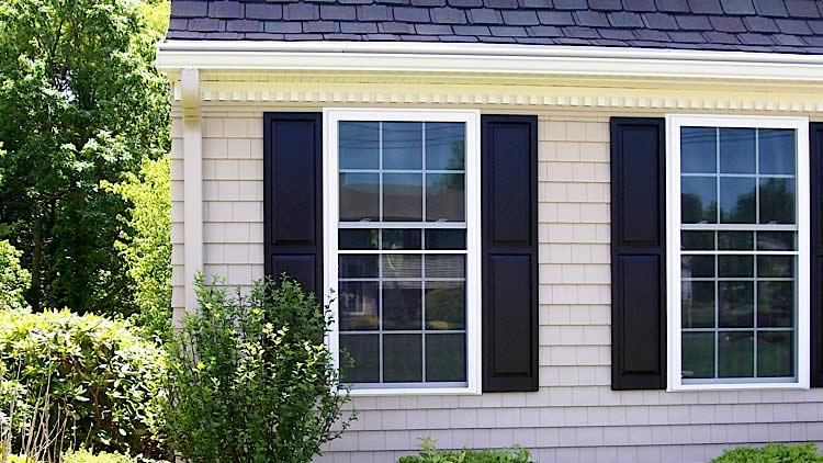 Design your home with exterior window shutters for Exterior window shutter repair