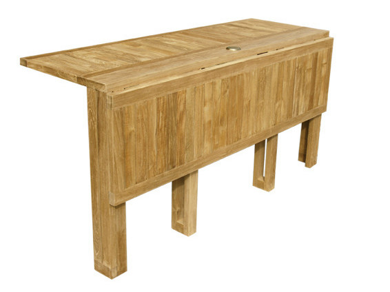 Stylish and well featured folding garden table