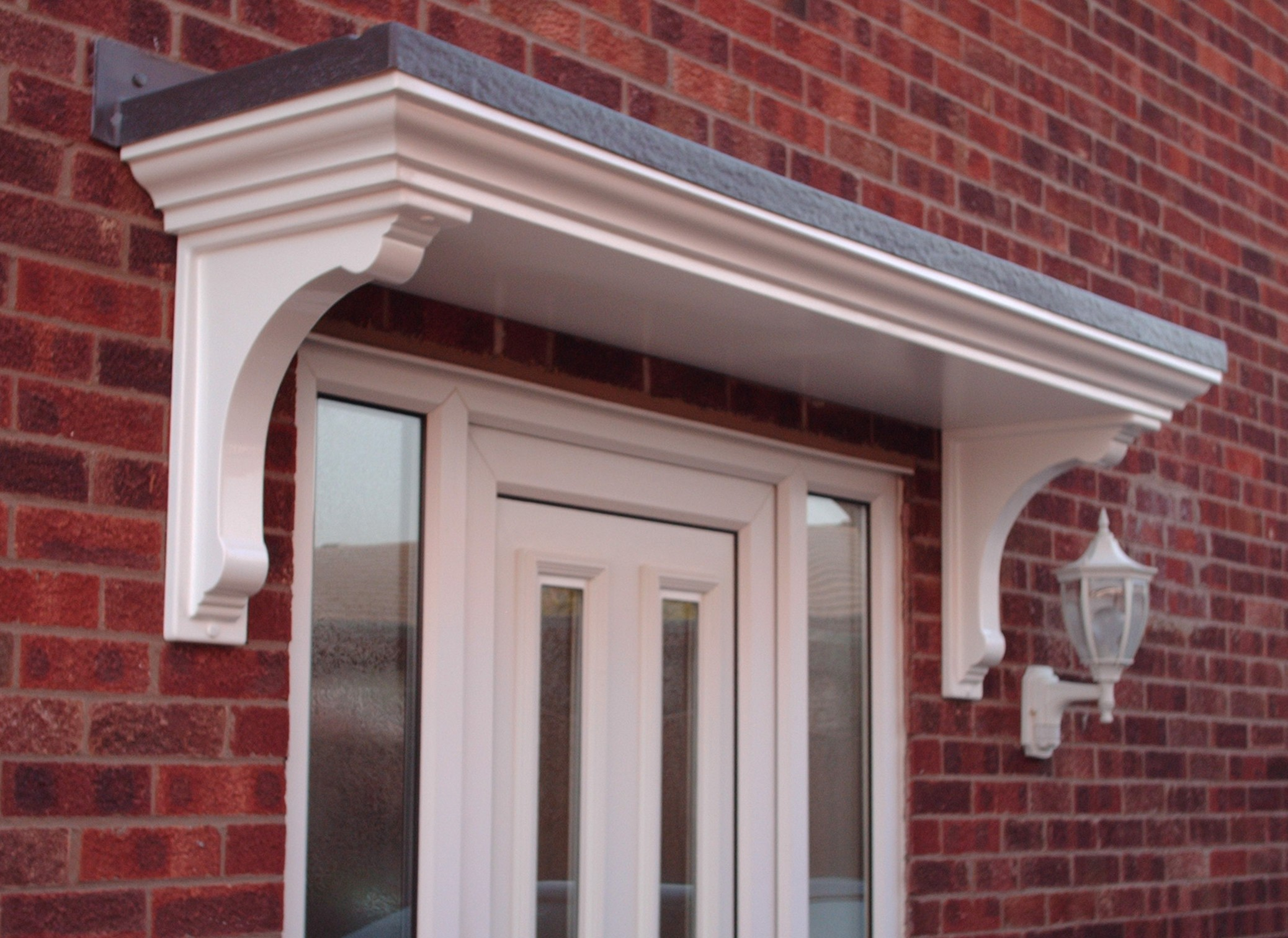 Protect your front by having classy front door canopy
