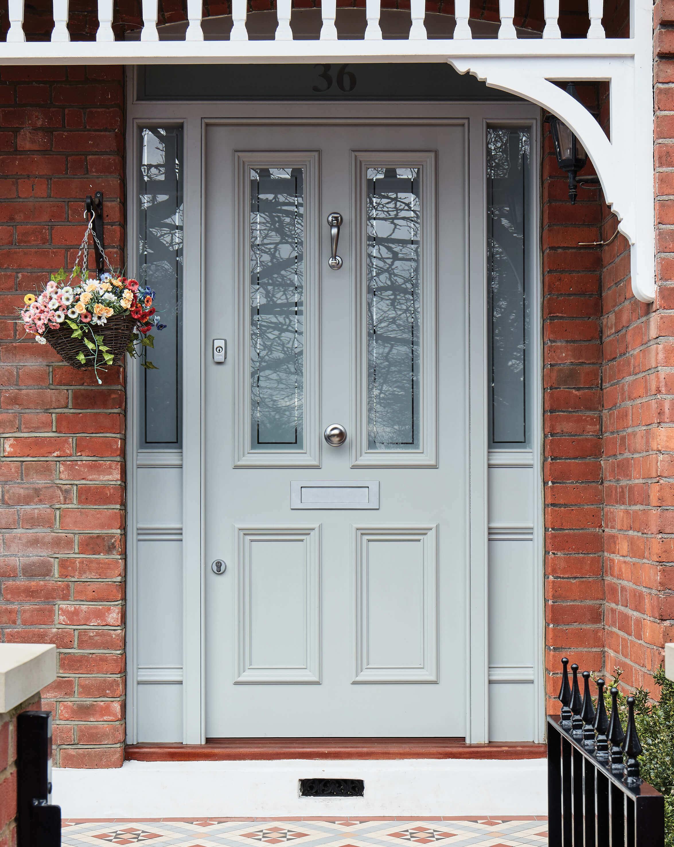 Front doors in the grand way
