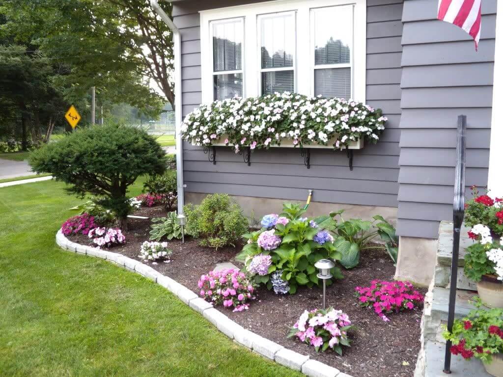 front yard landscape  96