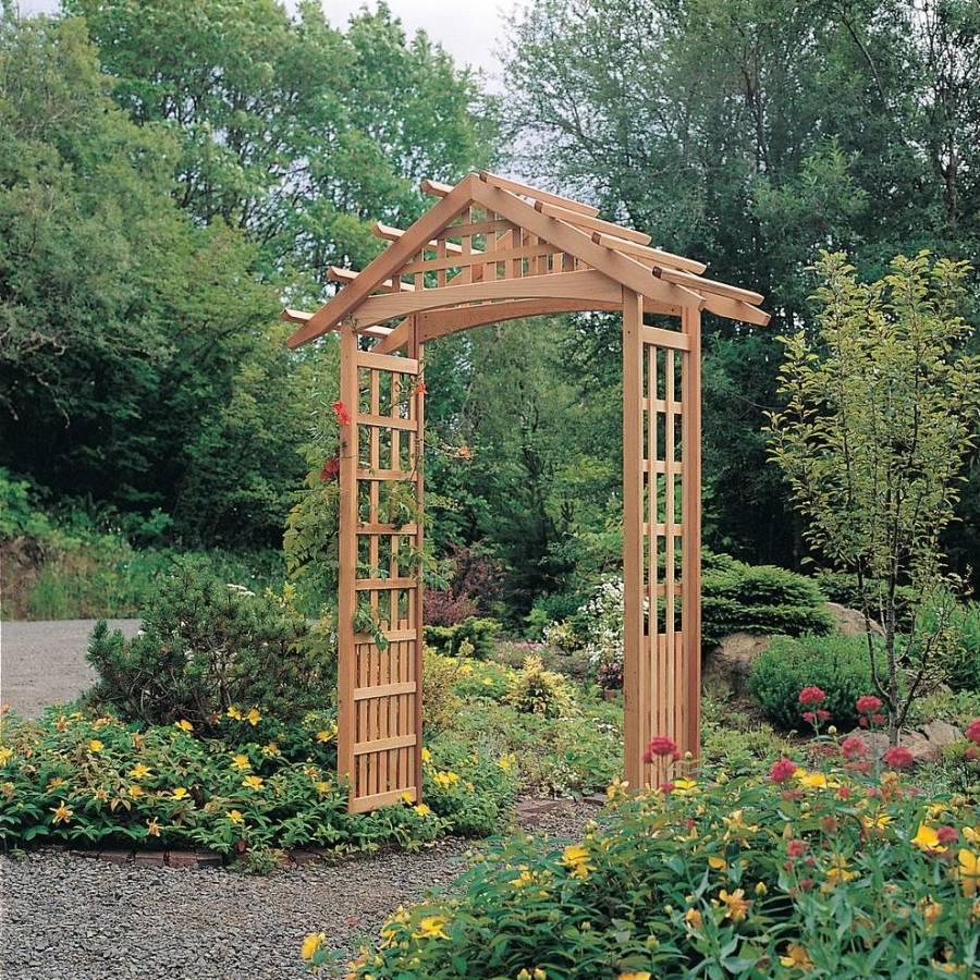 Decorate with garden arbors