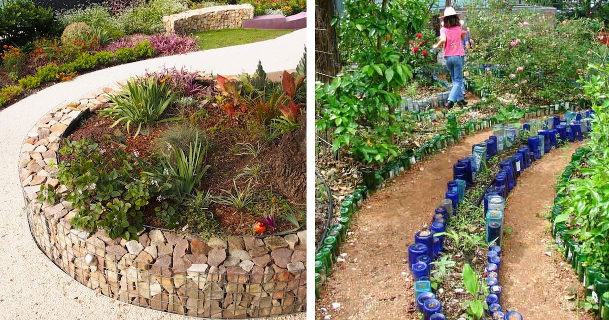 Garden edging ideas  63