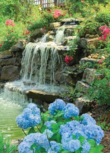 Make More Attractive Garden with Garden Waterfalls