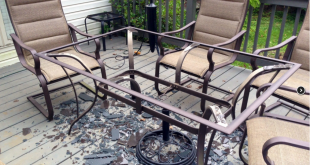 Glass patio table  23