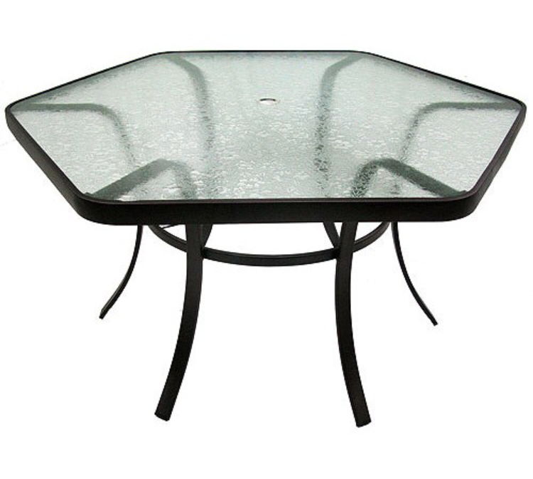 Glass patio table  40