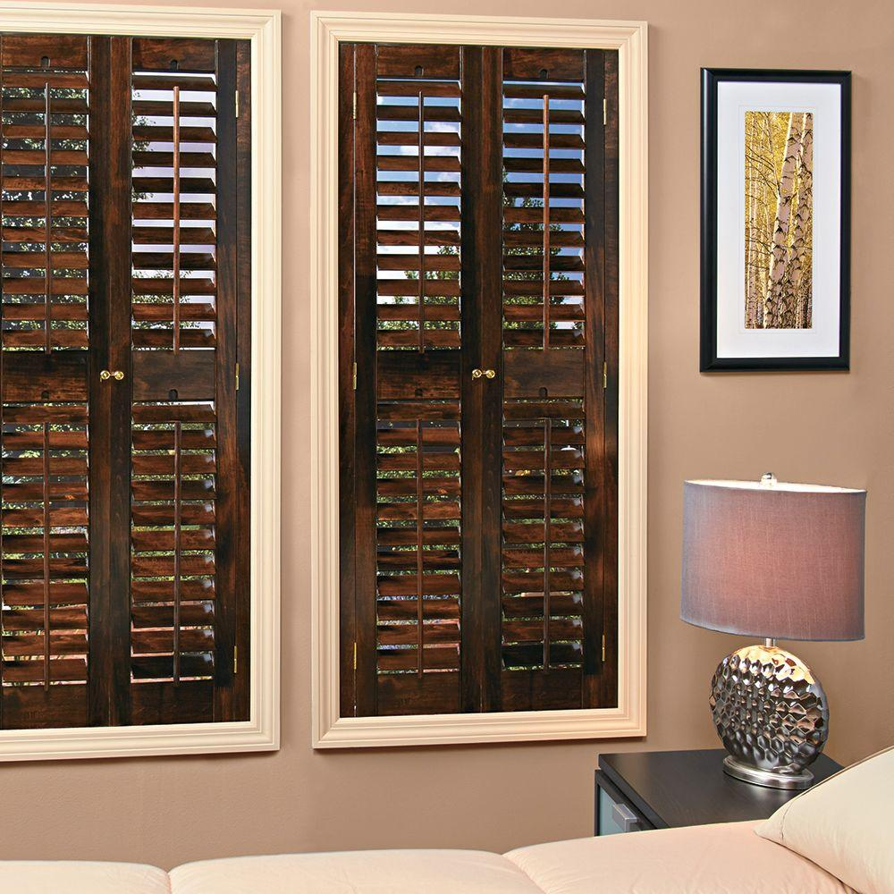 Interior window shutters 48