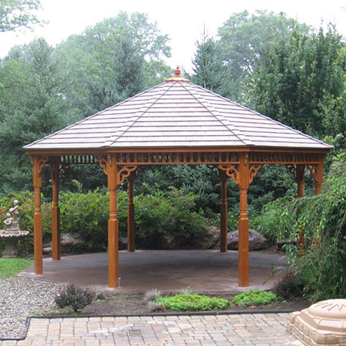 Large gazebo for the outdoor events