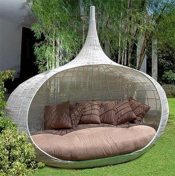 Perfect garden with modern garden furniture