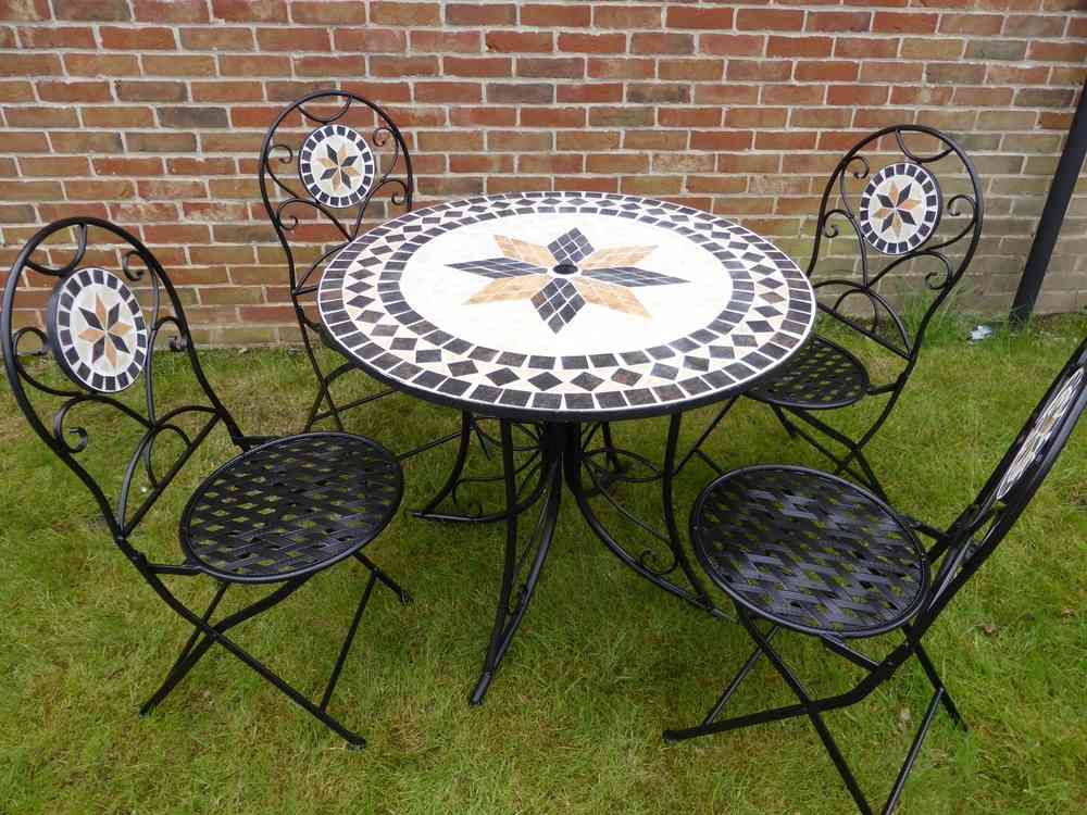mosaic garden table  12