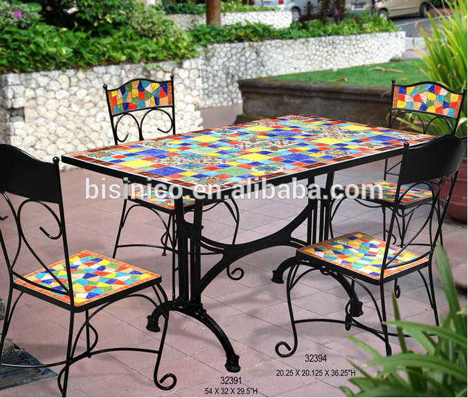 mosaic garden table  90