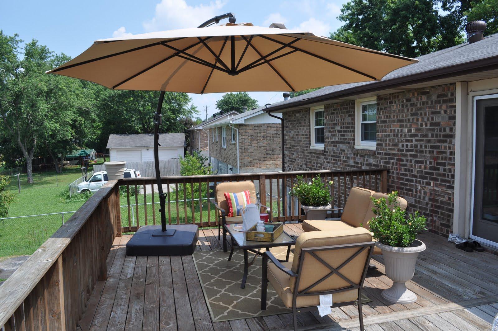 Outdoor deck umbrella  56