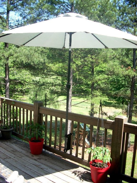 Outdoor deck umbrella  93
