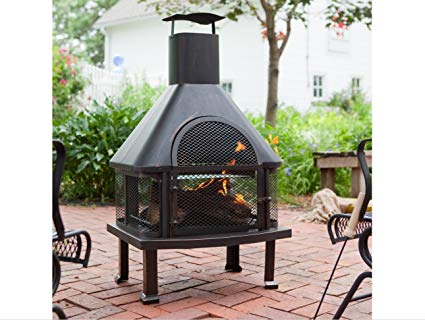 Enjoy warmness with outdoor fireplace