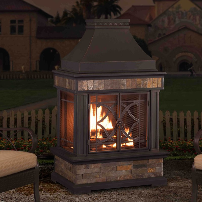 outdoor fireplace  98